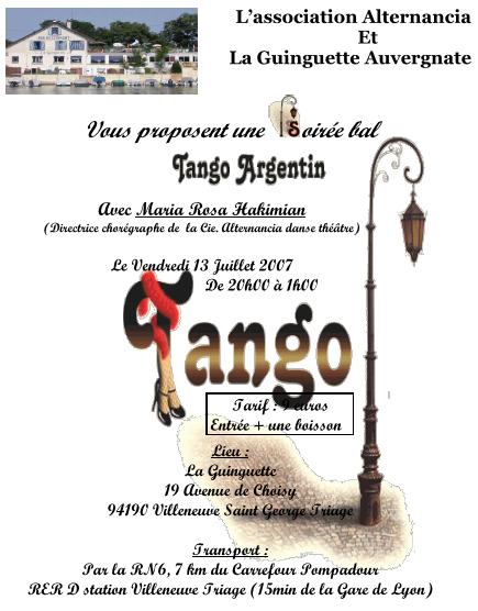 Soirée bal Tango Argentin