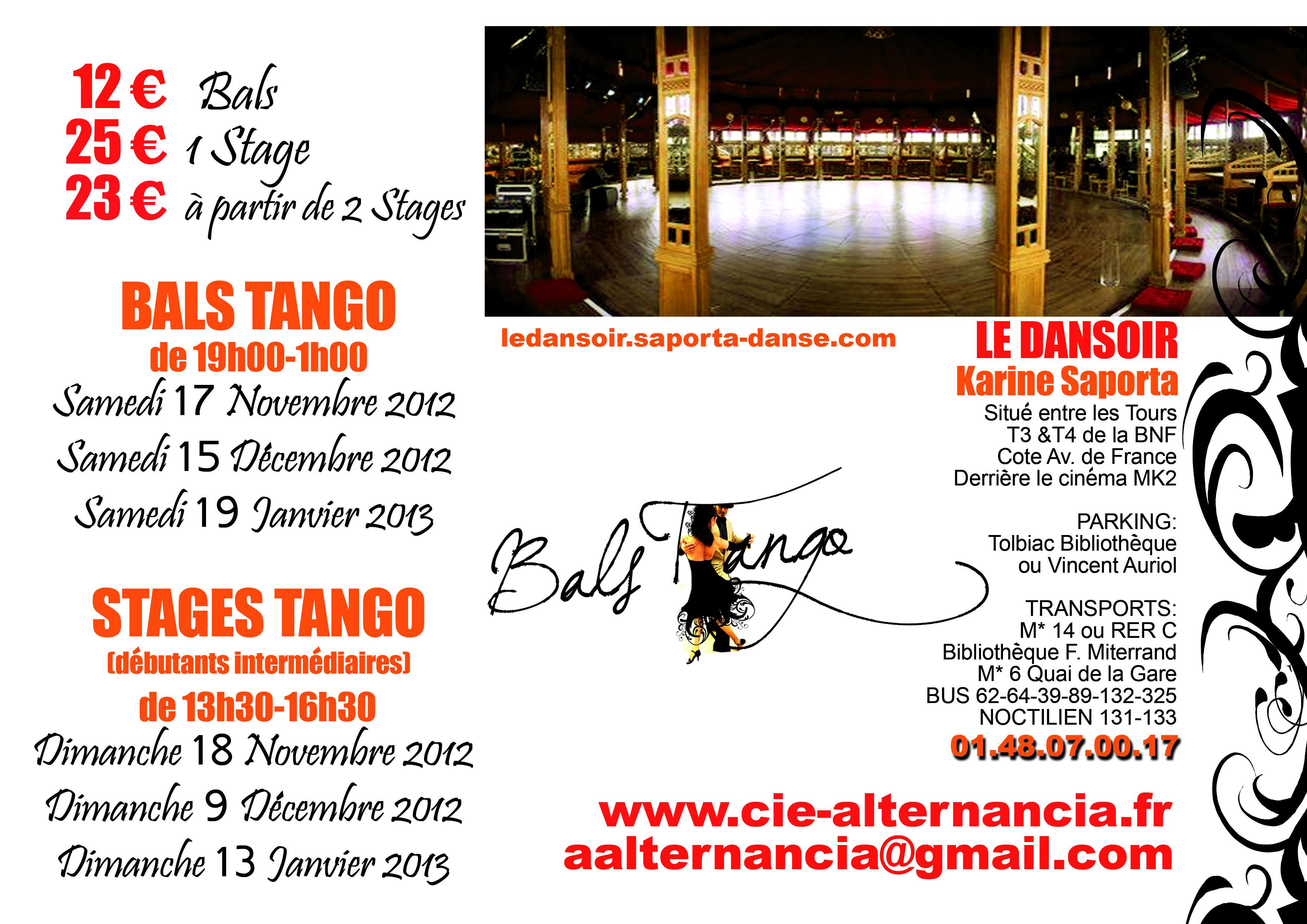Bals Tango sur Paris