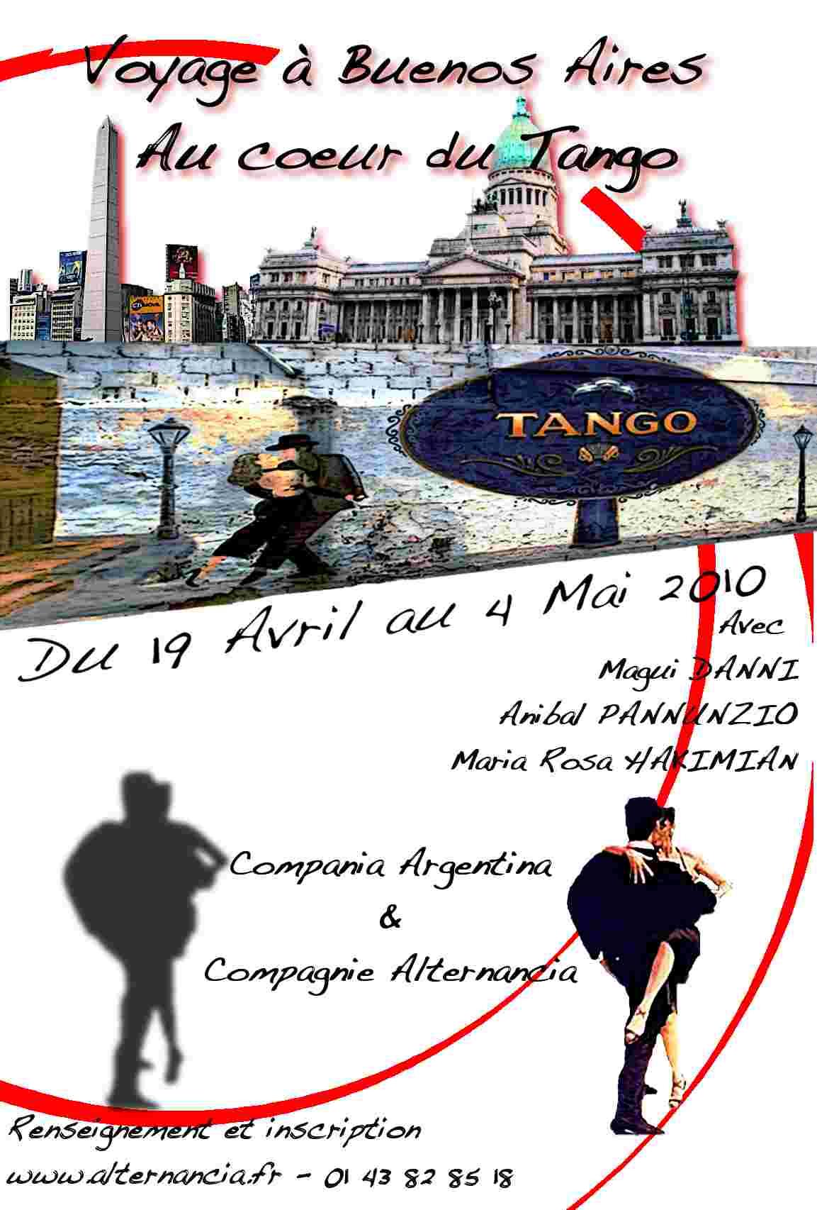 1° Voy. en Argentine