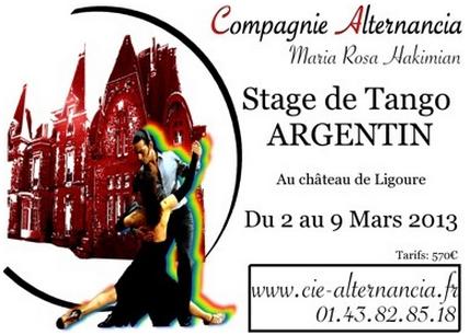 Stage de tango argentin à Ligoure 2013