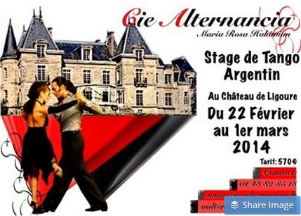 Stage de tango argentin à Ligoure 2014