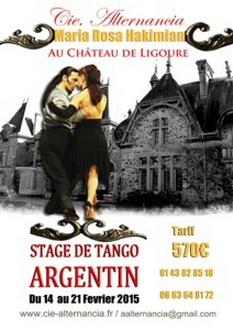 Stage de tango argentin à Ligoure 2015