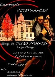 Stage de tango argentin à Ligoure